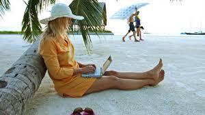 Playa mujer gadget