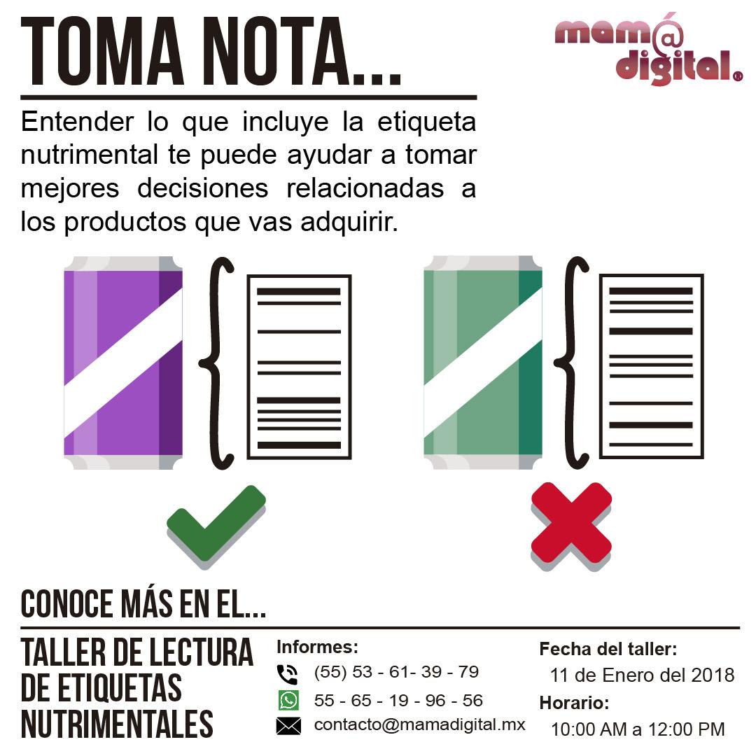TALLER DE LECTURA DE ETIQUETAS